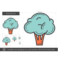 Broccoli line icon vector