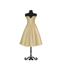 brown elegant dress on mannequin vector image