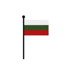 bulgarian flag vector image