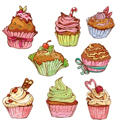cake set 380 vector image
