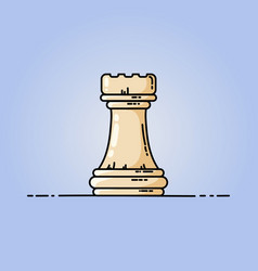 Chess rook flat icon vector
