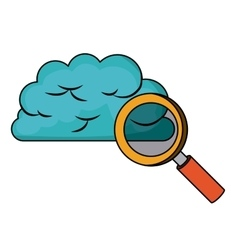 Cloud computing connection isolated icon design vector