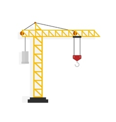 Crane isolated on white vector image