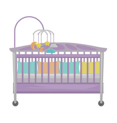 Crib iconcartoon icon isolated on vector