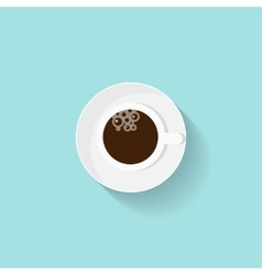 Cup of coffee in a flat style Morning drink vector image