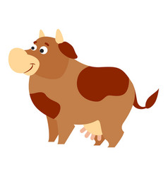 cute cow icon cartoon style vector image