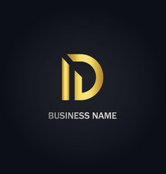 d shape initial business logo vector image