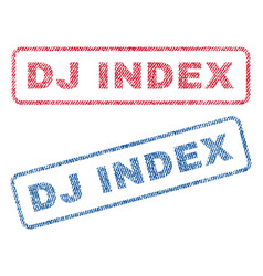 Dj index textile stamps vector