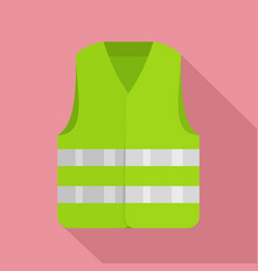 driver reflective vest icon flat style vector image
