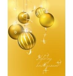 Elegant christmas background with christmas balls vector