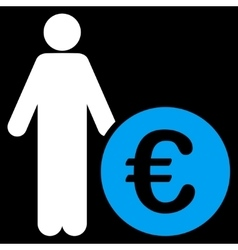 Euro Investor Icon vector image