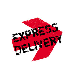 Express delivery rubber stamp vector