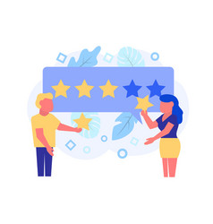 feedback concept in flat style vector image