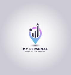 Financial advisor logos design idea vector