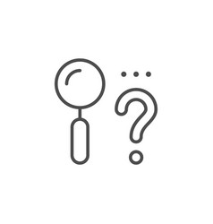 finding solution line outline icon vector image
