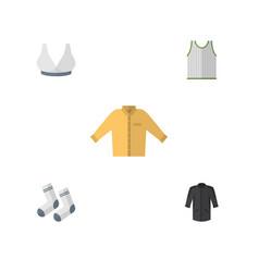 Flat icon clothes set of singlet banyan uniform vector
