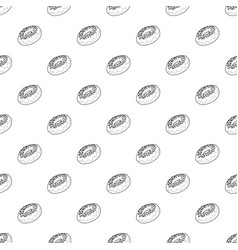 fresh donut icon outline style vector image