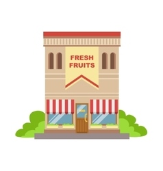 Fruit Shop Commercial Building Facade Design vector