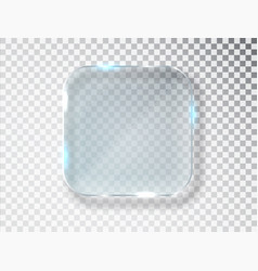 Glass frame isolated on transparent vector