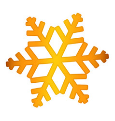 gold snowflake icon realistic style vector image