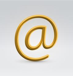Golden email over light background vector image
