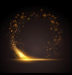 Golden sparkle ring background vector