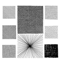 hand drawn textures vector image
