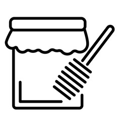 hanukkah honey jar icon outline style vector image