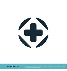healthcare cross icon logo template design eps 10 vector image