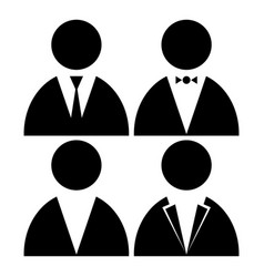 image of people in jackets with a butterfly vector image