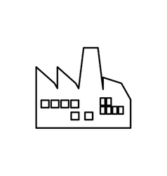 Industrial factory symbol vector image