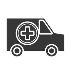 Isolated ambulance car graphic vector