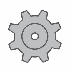 isolated gear vector image