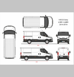 Iveco daily van l1h1 and l2h1 2014-2019 vector