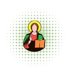 Jesus christ comics icon vector