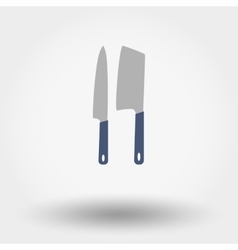 Kitchen knife set vector