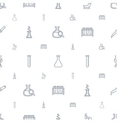 Laboratory icons pattern seamless white background vector