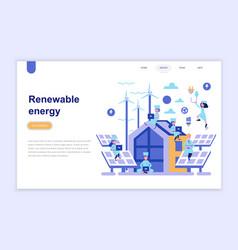 landing page template renewable energy vector image