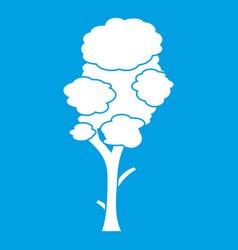 linden icon white vector image
