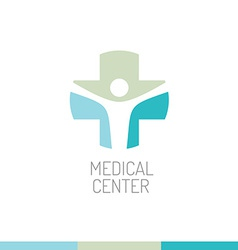 Medical center logo template vector image