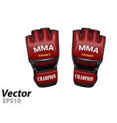 Mma gloves vector
