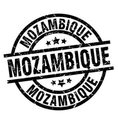 Mozambique black round grunge stamp vector