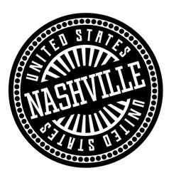 Nashville black and white badge vector