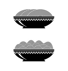 noodles soup italian spaghetti or boiled pasta vector image