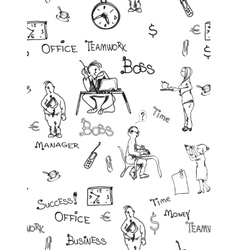 Office Life Seamless pattern vector image