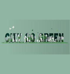 Paper cut eco concept vector