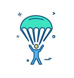 parachute icon design vector image