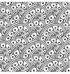 pattern with abstract ornament adult coloring vector image