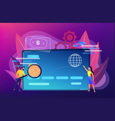 plastic money concept vector image