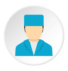 Plastic surgeon icon circle vector